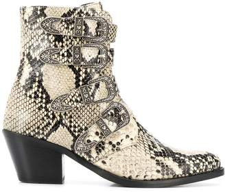 Twin-Set faux snakeskin boots