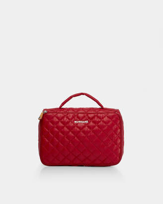 MZ Wallace Carmine Zip Round Cosmetic