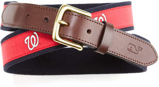 Vineyard Vines Washington Nationals Canvas Club Belt