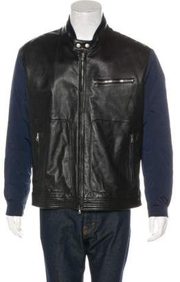 Gucci Contrast Leather-Paneled Jacket