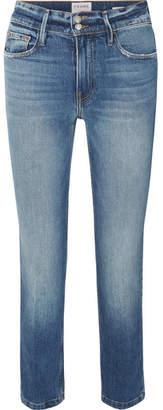Frame Le Sylvie High-rise Slim-leg Jeans - Mid denim