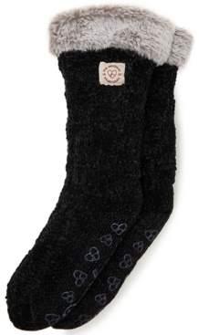 Dearfoams Chenille Knit Blizzard Slipper Sock, Online Only