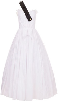 White Swan Leather Strap Gown