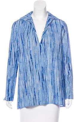 Tory Burch Tie-Dye Check Tunic