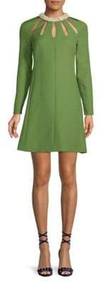 Valentino Cut-Out A-Line Dress