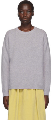 Acne Studios Purple Samara Crewneck Sweater