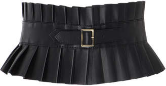 Philosophy di Lorenzo Serafini Pleated Leather Belt