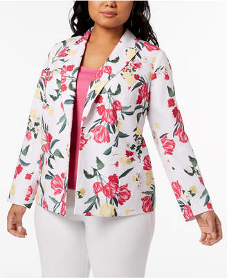 INC International Concepts I.N.C. Plus Size Floral-Print Blazer, Created for Macy's