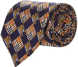 Burberry Equestrian Knight Vintage Check Tie
