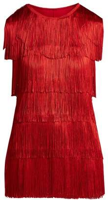 Norma Kamali Fringed Tank Top - Womens - Red