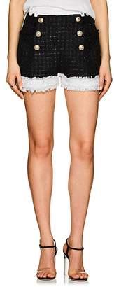 Balmain Women's Fringed Tweed Shorts