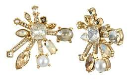 Badgley Mischka Starburst Stud Earrings