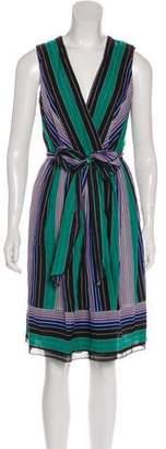 Anna Sui Striped Wrap Dress