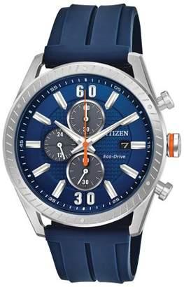 Citizen Eco-Drive Polyurethane Diver Chronograph Mens Watch CA0661-01L