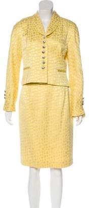 Christian Dior Textured Jacquard Skirt Suit