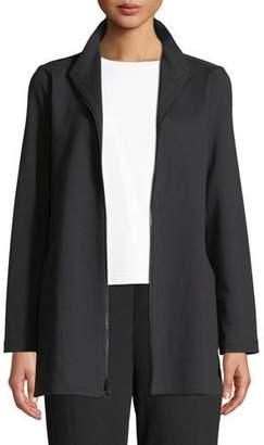 Eileen Fisher Travel Ponte Zip-Front Jacket, Plus Size