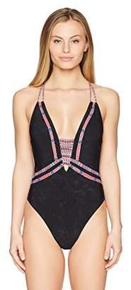 Nanette Lepore Women's Cha Goddess One Piece Swimsuit