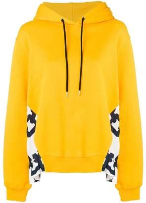 MSGM pleated panel hoodie