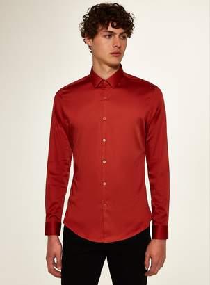 Topman Premium Rust Slim Smart Shirt