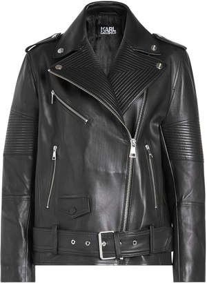 Karl Lagerfeld Leather Biker Jacket