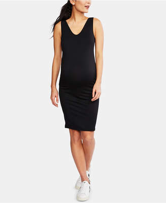 A Pea in the Pod Maternity French Terry Ruched Dress
