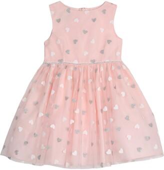 Pippa & Julie Heart Sleeveless Fit & Flare Dress