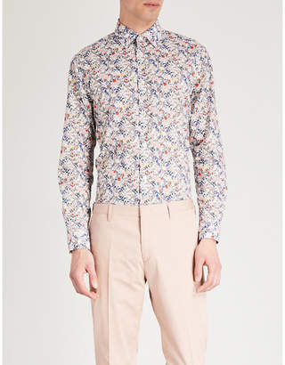 Paul Smith Liberty paisley-print slim-fit cotton-voile shirt