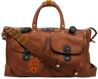 Express Leather Week End Bag W/ Patch