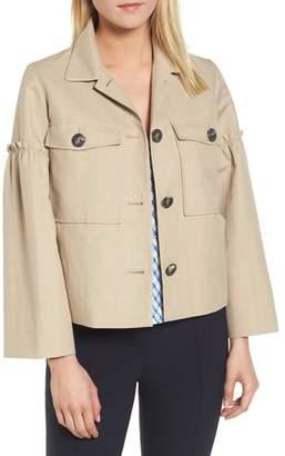 Blend of America Lewit Gathered Sleeve Linen Jacket