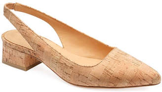 Bill Blass Samara Slingback Cork Pumps