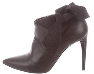 Proenza Schouler Leather Pointed-Toe Booties Black Leather Pointed-Toe Booties