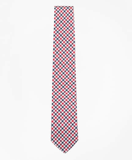 Brooks Brothers Black Fleece Houndstooth Silk Tie