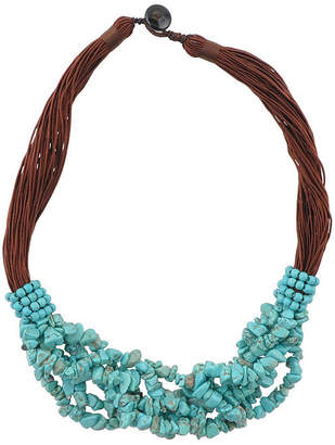 Artsmith BY BARSE By Barse Womens Genuine Blue Beaded Necklace