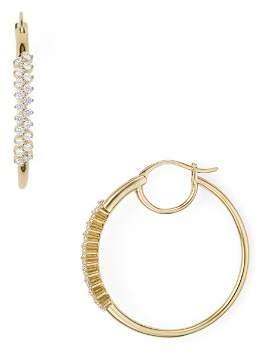 Nadri Aura Pavé Front Hoop Earrings