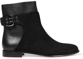 Jimmy Choo Major Suede And Leather Ankle Boots - Black