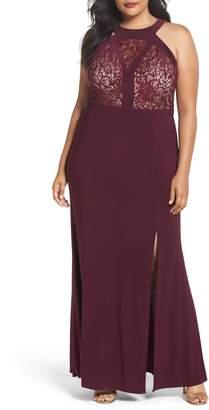 Morgan & Co. Lace Bodice Dress