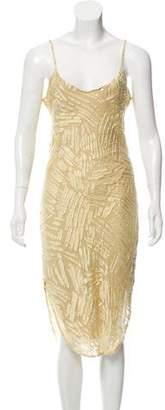 Maiyet Sleeveless Fil-Coupe Dress