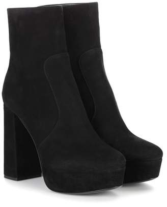 Prada Suede plateau ankle boots