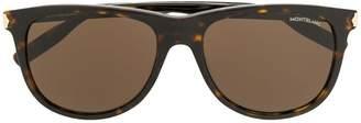 Montblanc tortoiseshell effect sunglasses