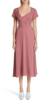 Sies Marjan Asymmetrical Fold Bodice Dress