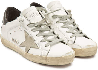 Golden Goose Super Star Leather Sneakers with Suede