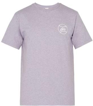 A.P.C. Arrol Logo Print Cotton Blend T Shirt - Mens - Purple