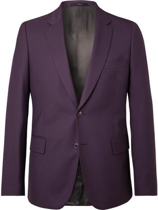 Paul Smith Aubergine Soho Slim-Fit Wool Suit Jacket