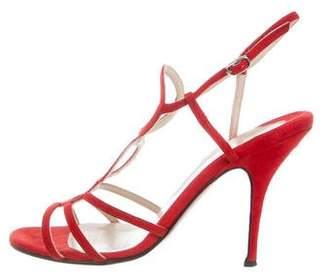 Christian Louboutin Suede Cutout Sandals