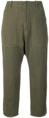 Nili Lotan khaki cropped trousers