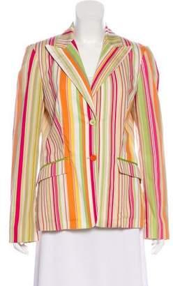 Etro Striped Button-Up Blazer