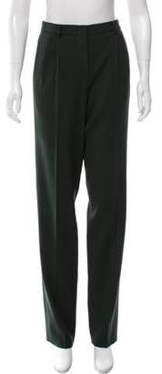 Narciso Rodriguez Pleated Straight-Leg Pants