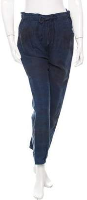 Raquel Allegra Tie-Dye Straight-Leg Pants w/ Tags