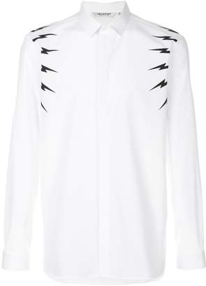 Neil Barrett lightening bolt shirt
