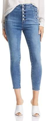 J Brand Natasha Sky High Crop Skinny Jeans in Meteor